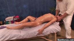 Bestgonzo Teen Is Slippery Wet After Erotic Oil Massage