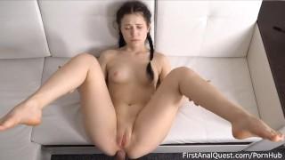 Braided brunette Nikki Hill Enjoys 1st Anal
