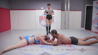 Mixed Arm wrestling with Bella Rossi and Mickey Mod