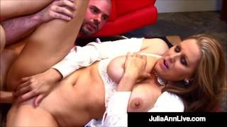 Big Titty Teacher Julia Ann Sucks & Fucks Her Hard Student!