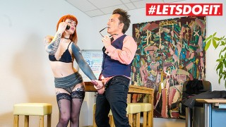 LETSDOEIT - Tattooed German Secretary Takes Good Care Of Her Boss's Cock