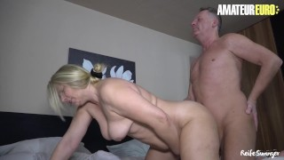 AmateurEuro - Chubby German Amateur Wife Cums Hard On Her Neighbor's Cock
