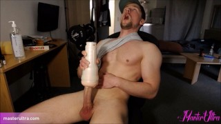 Very Hard Fleshlight Orgasm. legendary facial expression