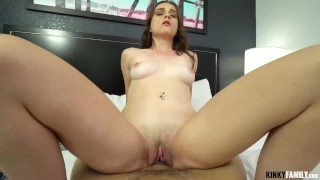 Kinky Family - Lilly Glee - Sex practice with hot stepsis