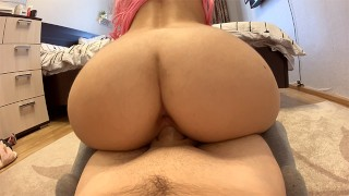 THE BITCH ACTIVELY JUMPS ON THE DICK | CREAMPIE