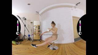 Sanija first nude virtual reality 3d video interview (feelmevr)