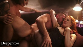 Deeper. Maitland Ward Passionate Threesome with Ivy Lebelle