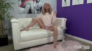 Jerk Your Hard Cock while I Smoke -JOI - Nikki Ashton -