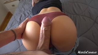 ANAL squirting orgasm   Huge cumshot   Big natural tits