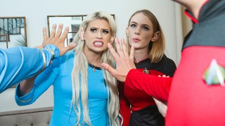 DaughterSwap - Cosplay Cuties Have Hard Rough Sex With Nerdy StepDads