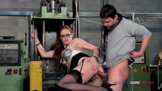 Banker French redhead takes all in the ass