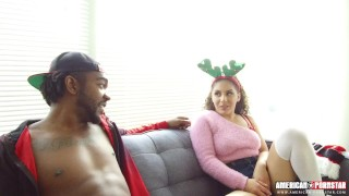 Naughty Latina Fucks Stepbrother For Christmas