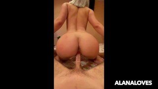 Russian Teen with Perfect Body jumping on my Dick - Amateur AlanaLoves
