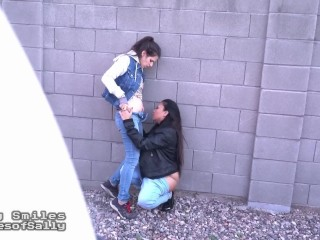 Steaming hot Lesbian Girlfriends Caught On Out of doors Cam by Stalker Voyeur