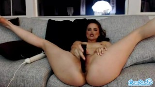 Tori Black plays with her anal dildo and vibrates her clit