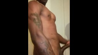 Masturbating My Thick Huge Dick intense Orgasm