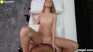 Innocent Girl Is Crazy Good At Sex Watch Her Rub His Balls While She Rides