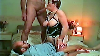 Threesome with a mature overweight wife