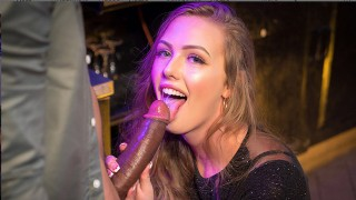 VR BANGERS Sexy Blonde Student Takes Big Black Cock At The Party VR Porn