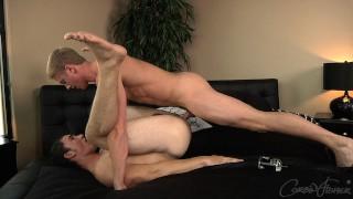 Corbin Fisher - Blond frat boy Kent pounds muscle jock Reed