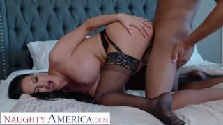 Naughty America - Jasmine Jae Fucks her son's friend for being nosy