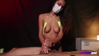 String Bikini and Oil Massage from Ari