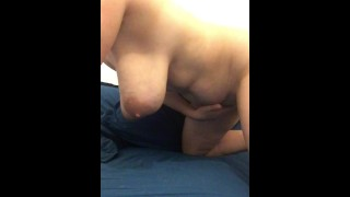 Huge Natural Tits Bounce as Mature Rides Her Dildo | CAM4