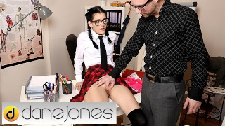 Dane Jones Teacher spanks and fucks naughty schoolgirl Anie Darling