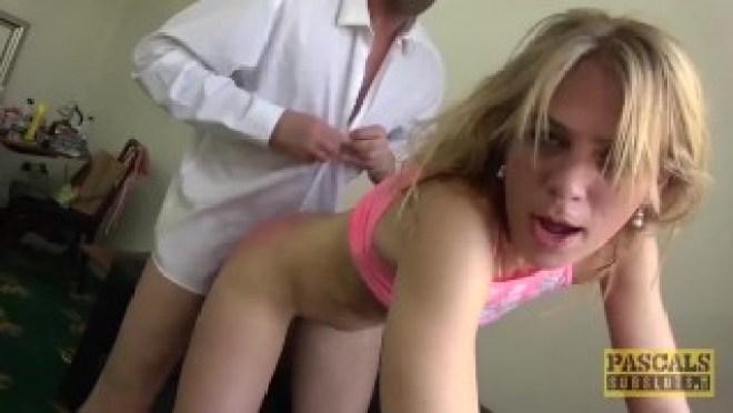 Blonde Euro Babe Anal Gangbang