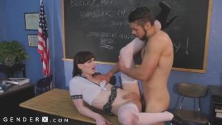 GenderX - Schoolgirl Natalie Mars Fucked By Classmate In School