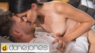 Dane Jones Petite Czech brunette Tiny Tina real orgasms with intimate lover