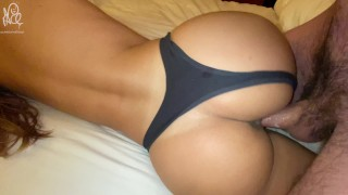 Babe, I need that hot sticky cum all over my ass - Real Amateur