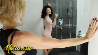 Naughty Step Mom Joins Her Stepdaughter In The Shower