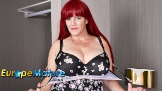 EUROPEMATURE Sexy european redhead mature is showing off boobs
