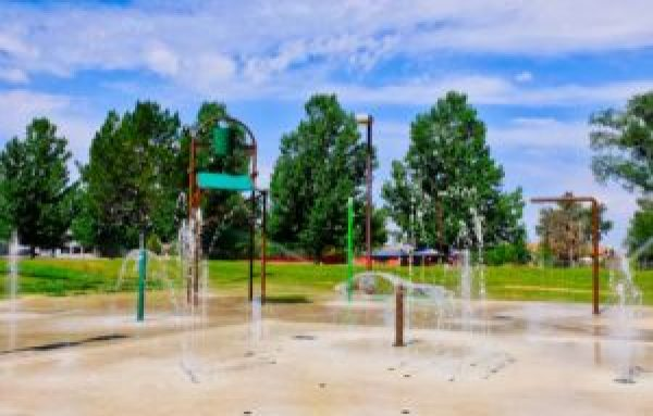 Pioneer Park Splash Pad Equipment