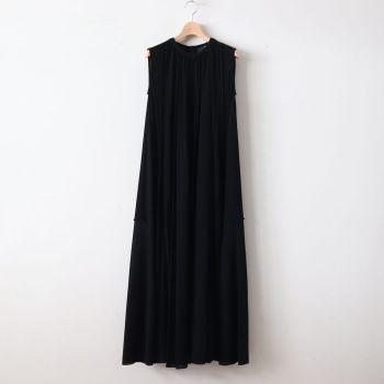 ATON | エイトン [ FRESCA KANOKO GATHER DRESS #BLACK [OPAGKM0403] ]