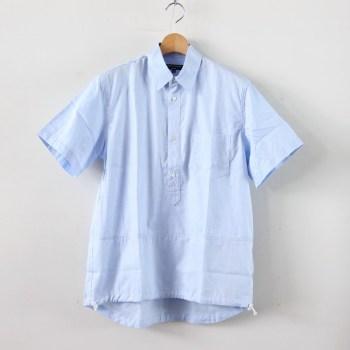 COMME des GARCONS HOMME | コム デ ギャルソン オム [ 綿ドビーストライプ×綿ドビーツイル製品プリントP/Oシャツ #SAX×BLUE [HC-B034-051] ]