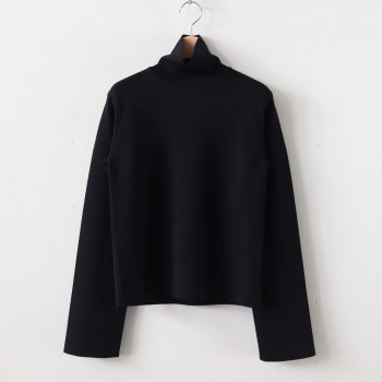 AURALEE | オーラリー [ WOOL SUPER HIGH GAUGE SMOOTH KNIT TURTLE NECK P/O #BLACK [A9AP03HR] ]
