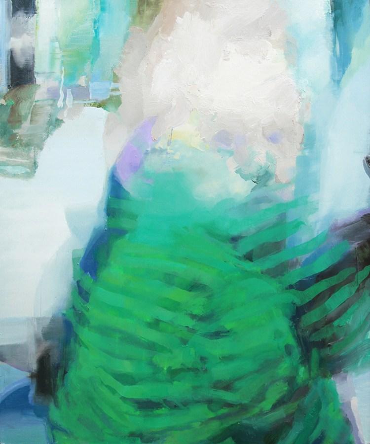 Tronie - Boy in Green Pyjamas , oil on board , 24 x 20 inches