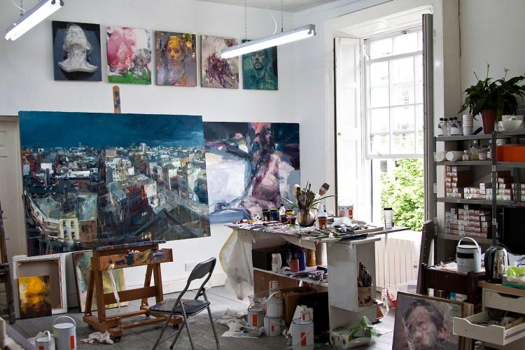 Studio, works in progress