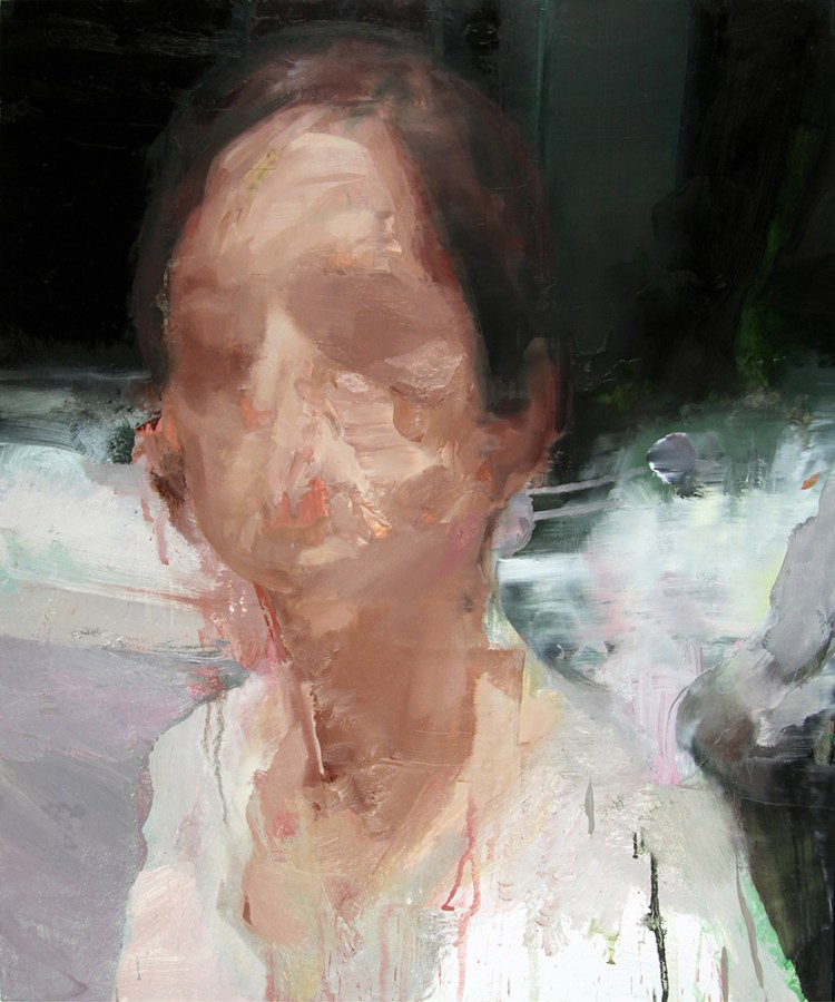 Tronie - Head of a Woman II , oil on board , 24 x 20 inches