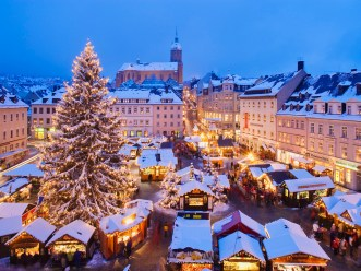 Annaberg-Buchholz, Germany --- Christmas market in Annaberg-Buchholz --- Image by © Franz-Marc Frei/Corbis