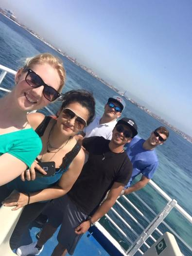 On the ferry headed to Capri