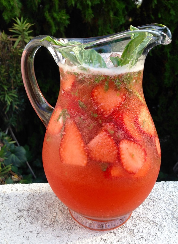 ould you like a glass of ice cold strawberry basil lemonade to cool ...