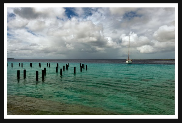Sailboat in water, Aruba