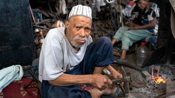 Craftsman in Marrakech medina