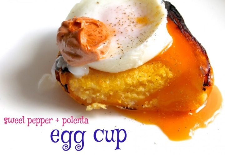 pepper polenta egg cup