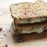 Mushroom swiss grilled cheese