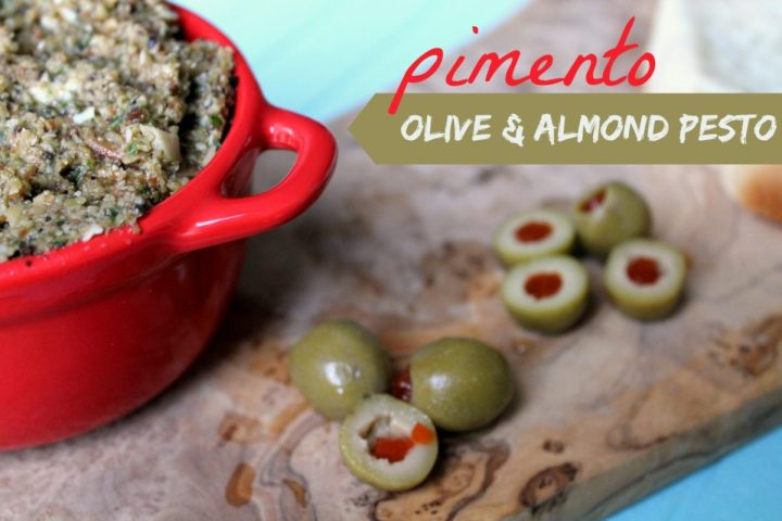 pimento olive and almond pesto