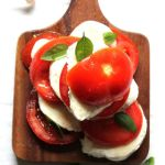 Caprese salad with smoked olive oil